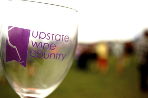 wings and wine festival glass