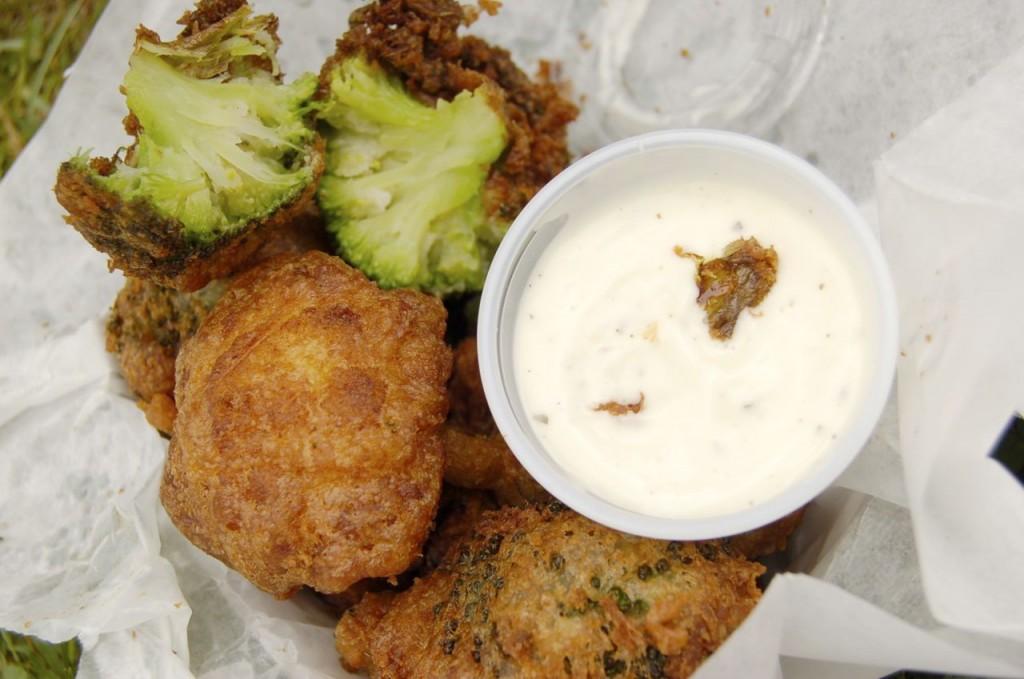wings and wine festival-deep fried veggies