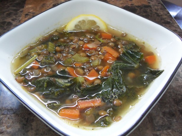 Lemon Lentil and Kale Soup Recipe