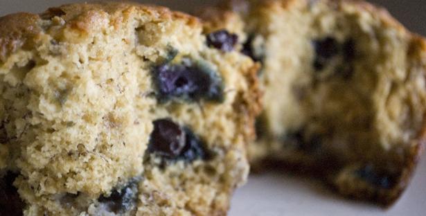 Bourbon Banana Blueberry Muffins Recipe