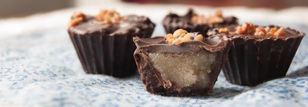 Dark Chocolate Bacon Bourbon Caramel Recipe