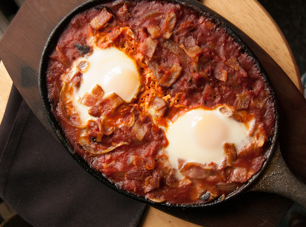 Simple Shakshuka with Bacon Recipe