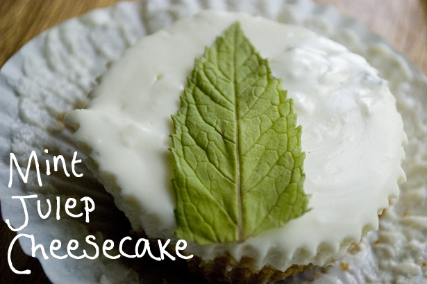No Bake Bacon Mint Julep Cheesecake Recipe