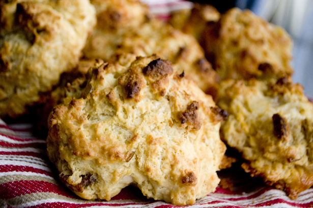 Cheddar Bacon Drop Biscuits