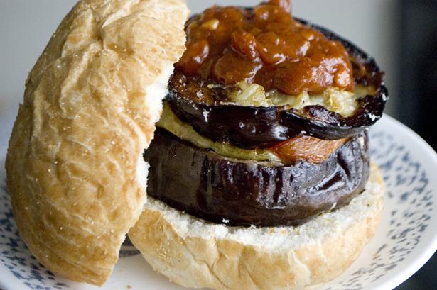Whiskey Roasted Veggie Burger
